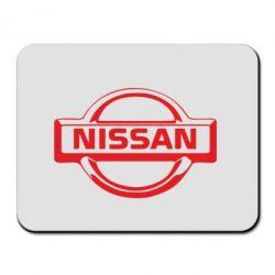 Килимок для миші логотип Nissan - FatLine