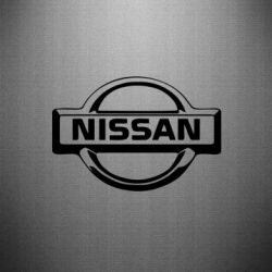 Наклейка логотип Nissan - FatLine