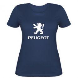 Женская футболка Логотип Peugeot