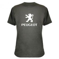Камуфляжная футболка Логотип Peugeot