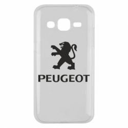 Чехол для Samsung J2 2015 Логотип Peugeot