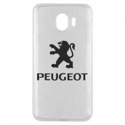 Чехол для Samsung J4 Логотип Peugeot