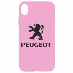 Чехол для iPhone XR Логотип Peugeot