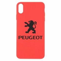 Чехол для iPhone Xs Max Логотип Peugeot