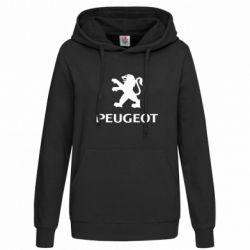 Женская толстовка Логотип Peugeot
