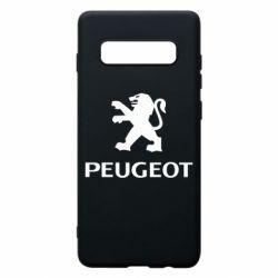 Чехол для Samsung S10+ Логотип Peugeot