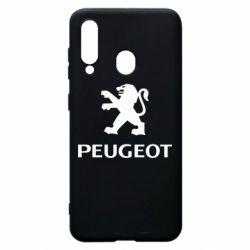 Чехол для Samsung A60 Логотип Peugeot