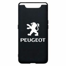 Чехол для Samsung A80 Логотип Peugeot