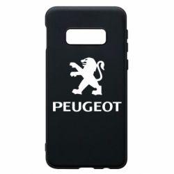 Чехол для Samsung S10e Логотип Peugeot