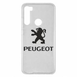Чехол для Xiaomi Redmi Note 8 Логотип Peugeot