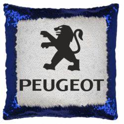 Подушка-хамелеон Логотип Peugeot