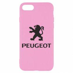 Чехол для iPhone 7 Логотип Peugeot