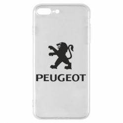 Чехол для iPhone 7 Plus Логотип Peugeot