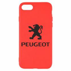 Чехол для iPhone 8 Логотип Peugeot