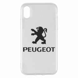 Чехол для iPhone X/Xs Логотип Peugeot
