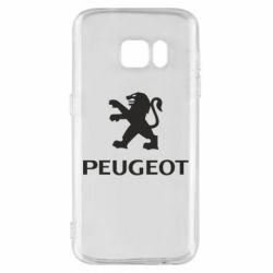 Чехол для Samsung S7 Логотип Peugeot