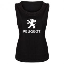 Женская майка Логотип Peugeot