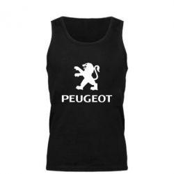 Мужская майка Логотип Peugeot