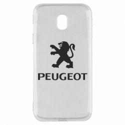 Чехол для Samsung J3 2017 Логотип Peugeot