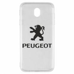 Чехол для Samsung J7 2017 Логотип Peugeot