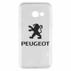 Чехол для Samsung A3 2017 Логотип Peugeot