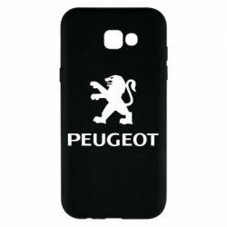 Чехол для Samsung A7 2017 Логотип Peugeot