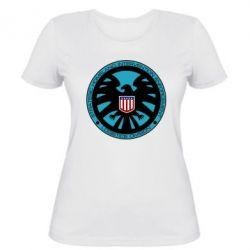 Женская футболка Логотип Щита - FatLine