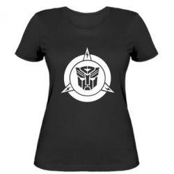 Женская футболка Логотип Трансформеры