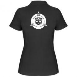 Женская футболка поло Логотип Трансформеры