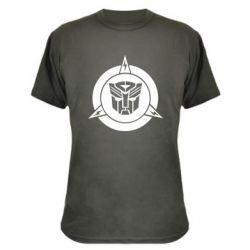Камуфляжная футболка Логотип Трансформеры