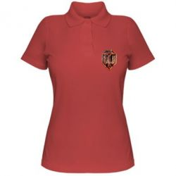 """Женская футболка поло Логотип World Of Tanks """"Раскаленный металл"""""""