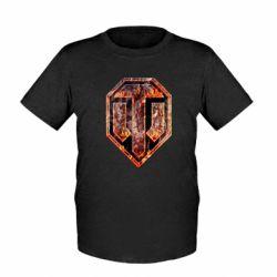 "Детская футболка Логотип World Of Tanks ""Раскаленный металл"""