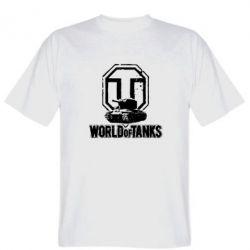 Мужская футболка Логотип World Of Tanks - FatLine