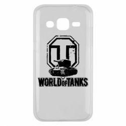 Чехол для Samsung J2 2015 Логотип World Of Tanks
