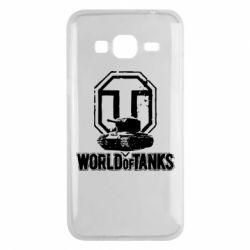 Чехол для Samsung J3 2016 Логотип World Of Tanks