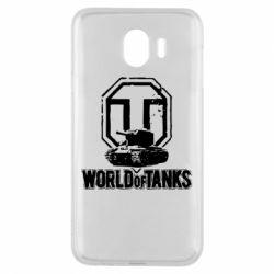 Чехол для Samsung J4 Логотип World Of Tanks