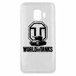 Чехол для Samsung J2 Core Логотип World Of Tanks