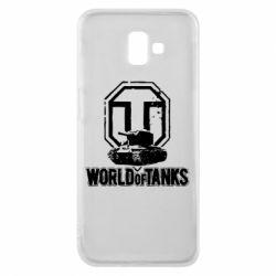 Чехол для Samsung J6 Plus 2018 Логотип World Of Tanks