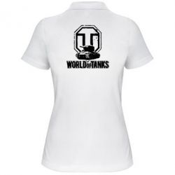 Жіноча футболка поло Логотип World Of Tanks