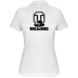 Женская футболка поло Логотип World Of Tanks