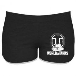 Женские шорты Логотип World Of Tanks