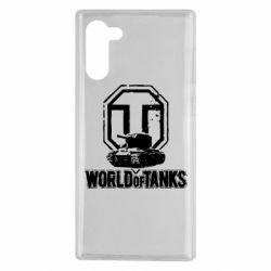Чехол для Samsung Note 10 Логотип World Of Tanks