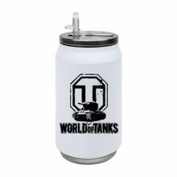 Термобанка 350ml Логотип World Of Tanks