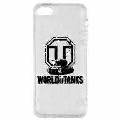 Чохол для iphone 5/5S/SE Логотип World Of Tanks