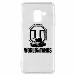 Чохол для Samsung A8 2018 Логотип World Of Tanks