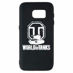 Чехол для Samsung S7 Логотип World Of Tanks