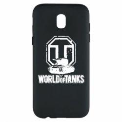 Чехол для Samsung J5 2017 Логотип World Of Tanks