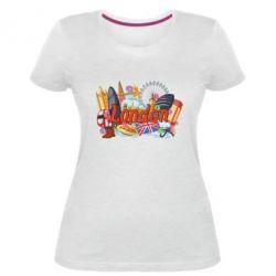 Жіноча стрейчева футболка London mix