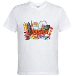Чоловіча футболка з V-подібним вирізом London mix