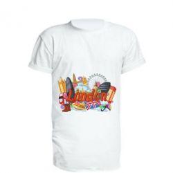 Подовжена футболка London mix